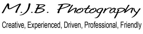 This is an advertising baner fo M.J.B. Photography.